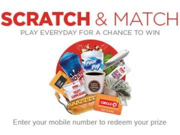 Circle K Scratch & Match Instant Win Game