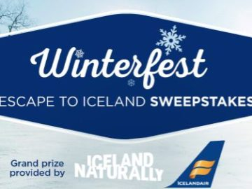Hallmark Channel's Winterfest Escape to Iceland Sweepstakes