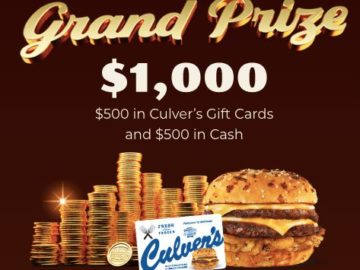 Culver's Colby JackPot Sweepstakes and Instant Win Game (Limited States)
