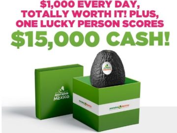Avocados From Mexico $1,000 a Day Sweepstakes