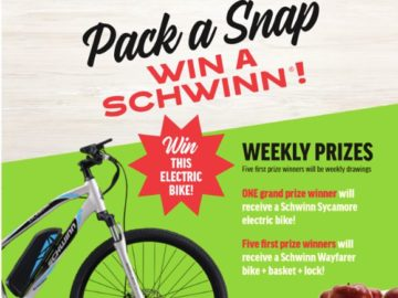 SnapDragon Pack a Snap Win a Schwinn Sweepstakes