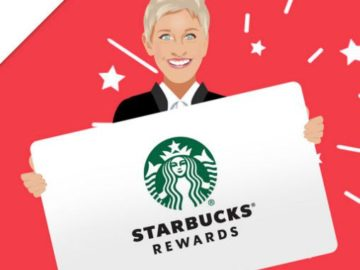 Ellen DeGeneres - Win a $500 Starbucks Gift Card