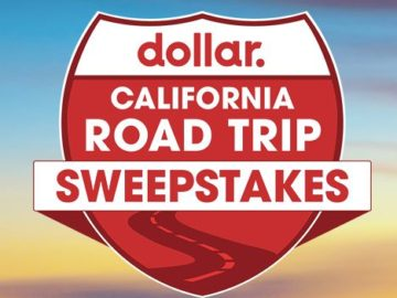 Dollar Car Rental California Road Trip Sweepstakes