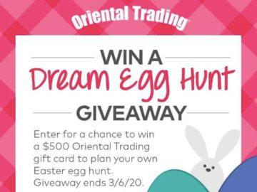 Oriental Trading Dream Egg Hunt Giveaway