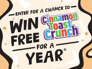 Cinnamon Toast Crunch For A Year Sweepstakes (Purchase/Mail-In)