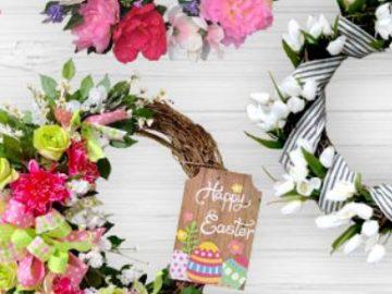 Dollar Tree Spring Wreath Photo Contest
