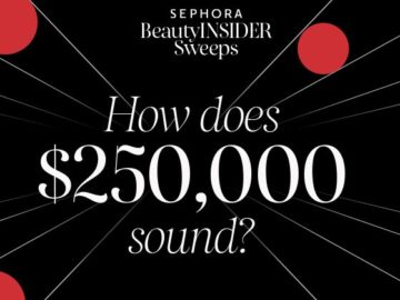 Sephora Beauty Insider Sweepstakes (Points Redemption/Mail-In)