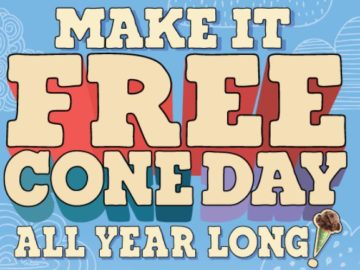 Ben & Jerry's Make It Free Cone Day All Year Long Sweepstakes
