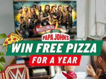 Papa John's Wrestlemania Sweepstakes (Facebook)