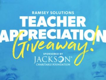 Ramsey Solutions Teacher Appreciation Giveaway (Teacher's Only)