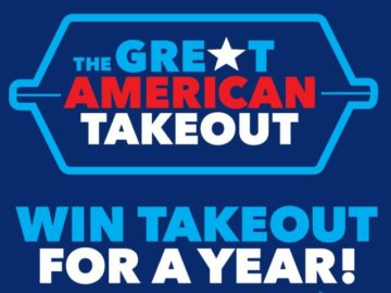Great American Takeout Sweepstakes (Twitter/Instagram)