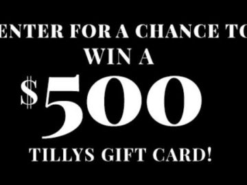 Tillys Gift Card Giveaway
