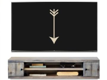 Spring Farmhouse Floating TV Stand Giveaway