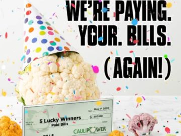 Caulipower Pays Your Bills Sweepstakes