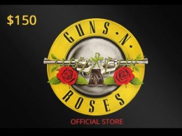 $150 Gift Card Guns N' Roses Store Sweepstakes