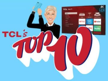 EllenTube and TCL's Top 10 Giveaway