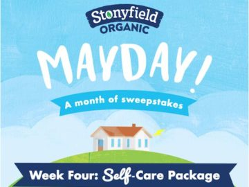 The Stonyfield Self Care Package MayDay Sweepstakes