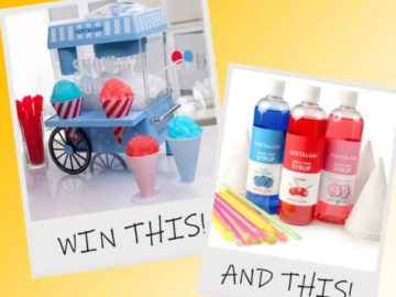 Nostalgia Snow Cone Maker Party Kit Giveaway