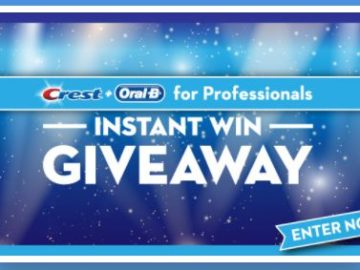 Crest + Oral-B Instant Win Giveaway (Dental Professionals Only)