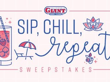 California Giant Sip, Chill, and Repeat Sweepstakes
