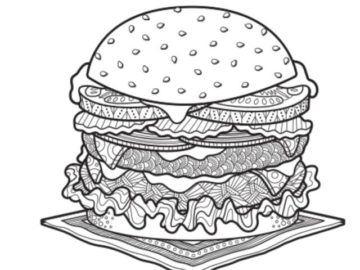 Food Network Magazine July/August 2020 Color This Dish Contest