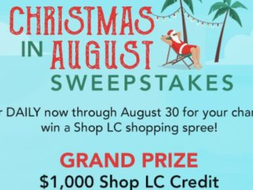 Christmas Sweeps 2020 Shop LC Christmas in August Sweepstakes