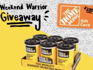 Tub O' Towels Weekend Warrior Giveaway