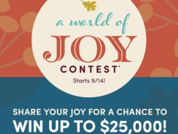 World Market's A World Of Joy Contest (Photo/Video Upload)