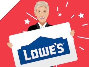 Ellen's Lowe's Gift Card Giveaway