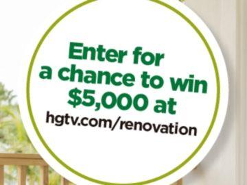 HGTV Magazine Renovation $5,000 Sweepstakes