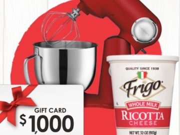 Frigo Cheese Lotta Ricotta Instant Win and Sweepstakes