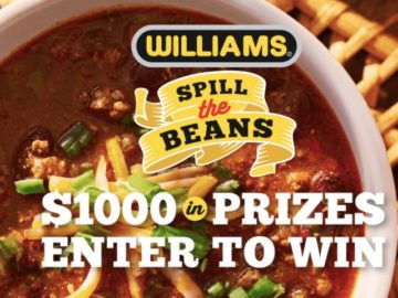 Williams Spill the Beans Contest