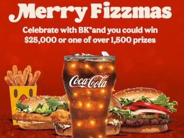 BK and Coke - Very Merry Fizzmas Instant Win and Sweepstakes