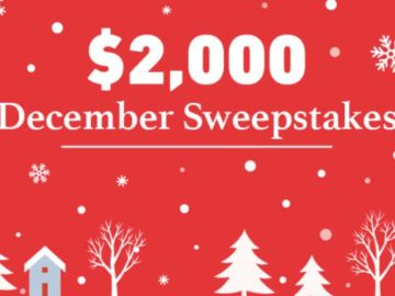 DealNews $2,000 December Sweepstakes