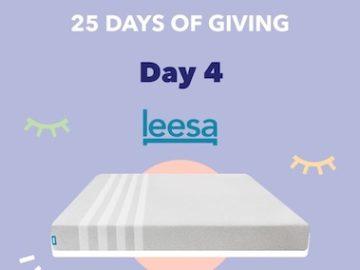Sleepopolis 25 Days of Giving 2020 - Leesa Mattress