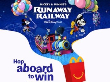 """""""Hop Aboard to Win"""" Sweepstakes at McDonald's (Happy Meal Code)"""