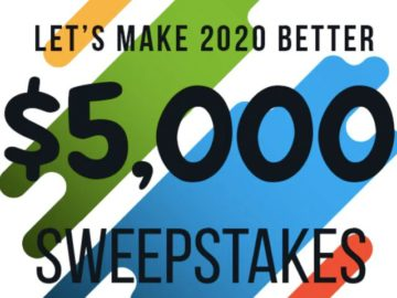 Let's Make 2020 Better $5,000 Sweepstakes