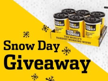 Tub O' Towels Snow Day Giveaway