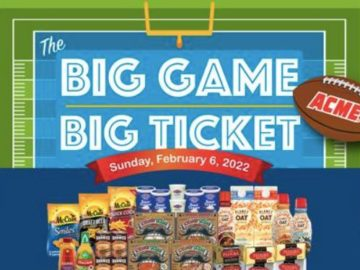 ACME and Safeway Big Game Big Ticket Sweepstakes (Limited States)