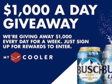 Busch My Cooler Cash Sweepstakes