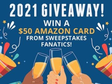 2021 New Year Giveaway from Sweepstakes Fanatics
