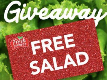 Fresh Express Free Salad Giveaway (Facebook)