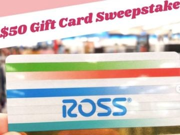 $50 Ross Gift Card Giveaway (Instagram)