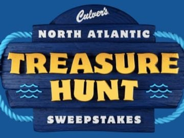 Culver's North Atlantic Treasure Hunt Instant Win Game and Sweepstakes (Limited States)