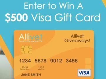 The Allivet Visa Gift Card Giveaway