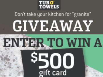 Tub O' Towels Game Day Giveaway