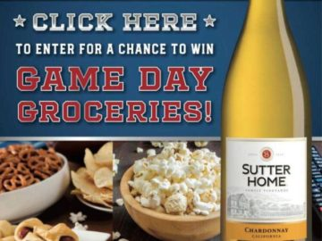 Sutter Home Chance to Win Groceries Sweepstakes