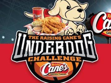 Raising Cane's Chicken Fingers Underdog Challenge Sweepstakes