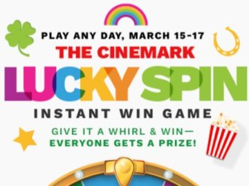 The Cinemark Lucky Spin Instant Win Game