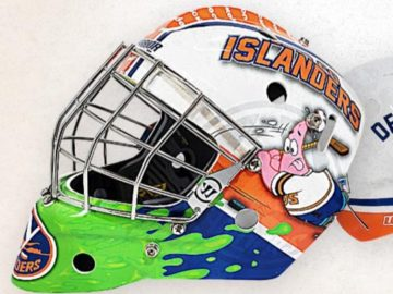 New York Islanders Custom Nickelodeon Goalie Mask Sweepstakes